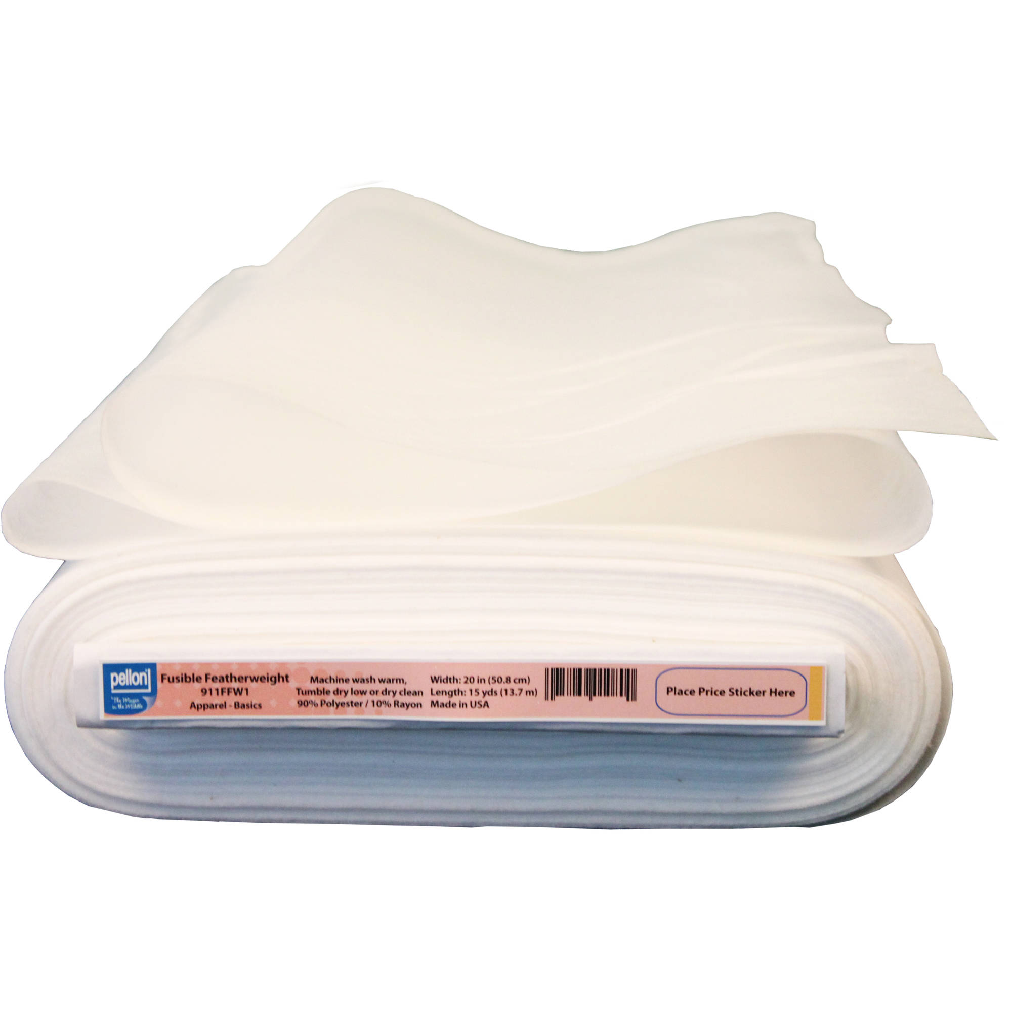 "Pellon 911FF Fusible Featherweight, White, 20"" x 15 Yards"