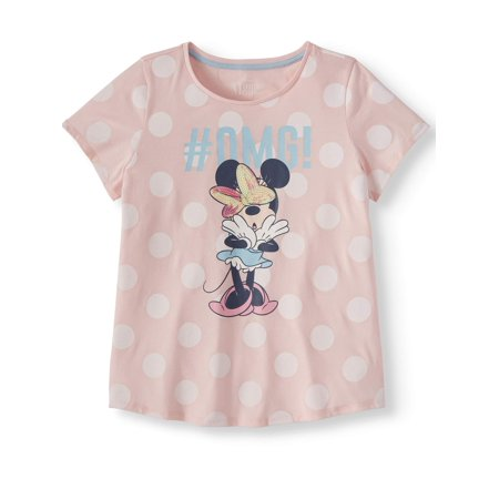 Minnie Mouse #OMG Minnie Graphic T-Shirt (Little Girls & Big Girls)