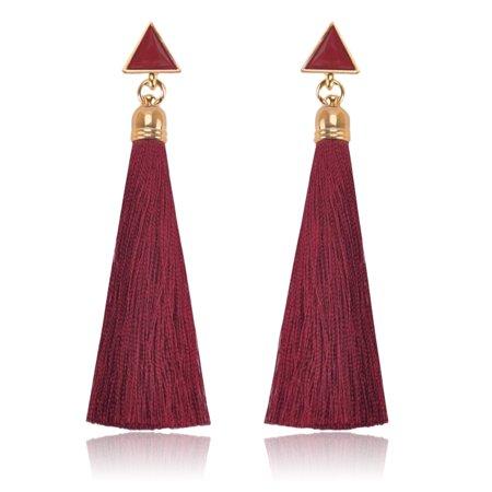 New Fashion Vintage Women Drop Earrings Long Tassel Dangle Earring Ladies Girls Jewelry Accessories Gifts Drops Dangles Earring Findings