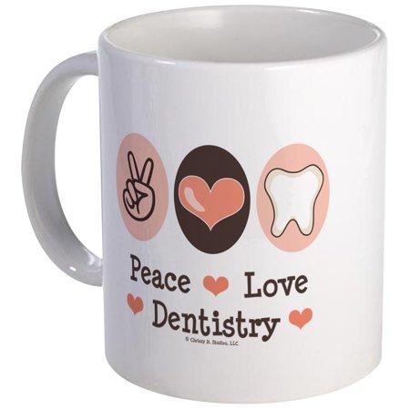 Dentistry Mug (CafePress - Peace Love Dentistry Dentist Mug - Unique Coffee Mug, Coffee Cup CafePress )