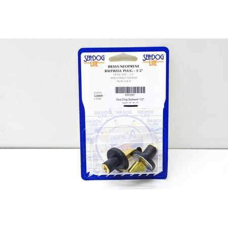 Brass/Neoprene Baitwell Plug 1/2' 1/2 Inch Acrylic Plugs