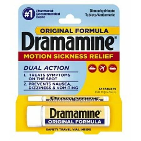 3 Pack - Dramamine cinétose de secours, la formule originale, comprimés 12 ch
