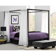 Modern Canopy Queen Metal Bed, Multiple Colors Image 2 of 5