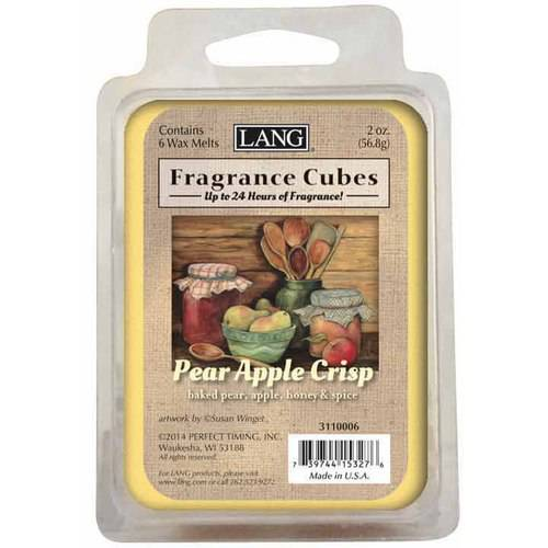 LANG Pear Apple Crisp 2-Ounce Fragrance Cubes Scented with Baked Pear, Apple, Honey and Spice