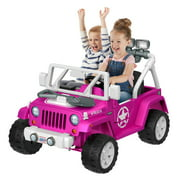 Power Wheels Jeep Wrangler Willys Pink Ride On 12V Vehicle