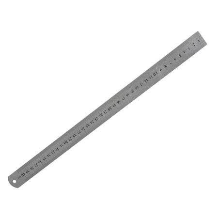 Unique Bargains Metric 40Cm Scale Double Side Stainless Steel Imperial Straight Ruler 16