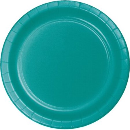 Paper Plates, 7 in, Teal, 20ct