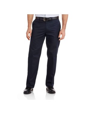 Genuine Dickies Big Men's Relaxed Fit Straight Leg Flat Front Flex Pant