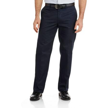 Big Men's Relaxed Fit Straight Leg Flat Front Flex -