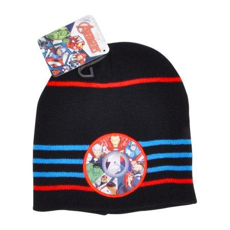 3ec7c3622bfe8 Boys Knit Cuffed Beanie Hat Choose Spider-Man Avengers Paw Patrol Batman -  image 1 ...