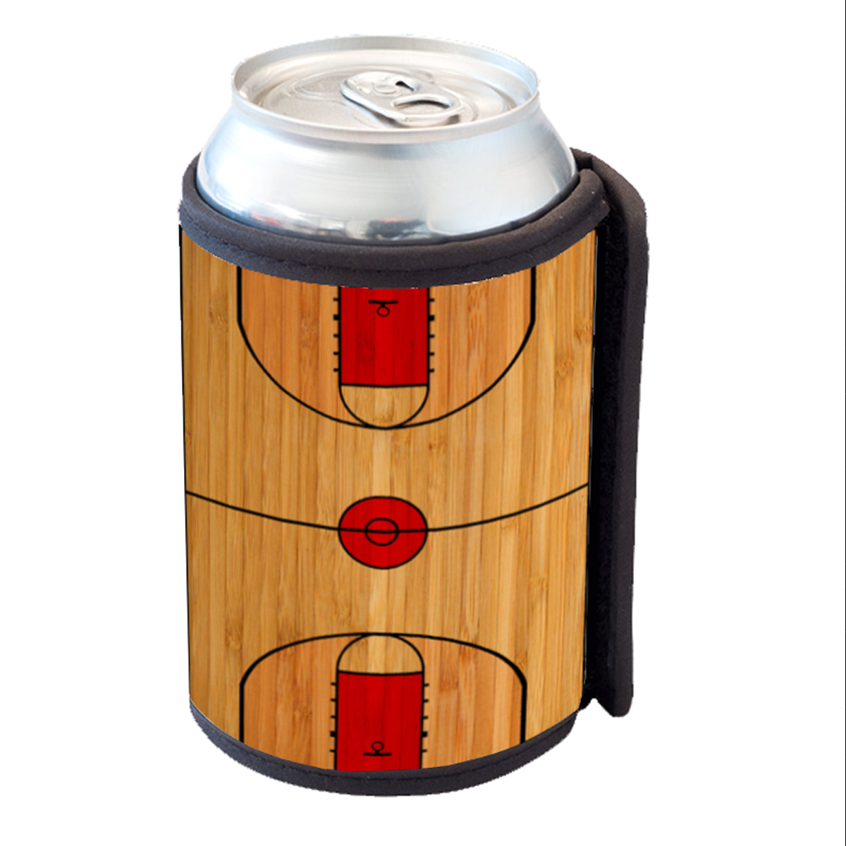 KuzmarK Insulated Drink Can Cooler Hugger - Basketball Court