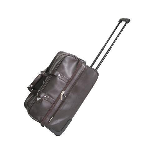 Royce Leather Trolley Duffel RYC649BROWN5
