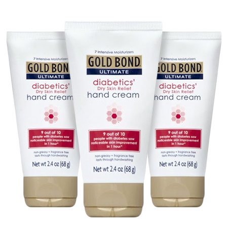 (3 Pack) Gold Bond Ultimate Diabetics Dry Skin Relief Hand Cream, 2.4