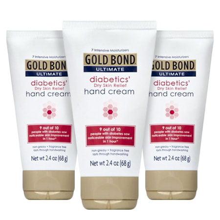 (3 Pack) Gold Bond Ultimate Diabetics Dry Skin Relief Hand Cream, 2.4 oz