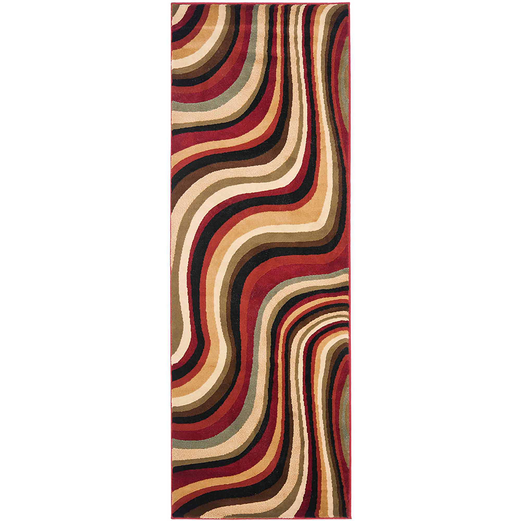 Safavieh Art Deco Alice Polypropylene Runner Rug, Red and Multi-Color