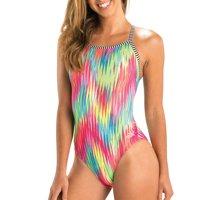 Dolfin Uglies Women's Print V-2 Back Swimsuit in Fizzy, Size 32