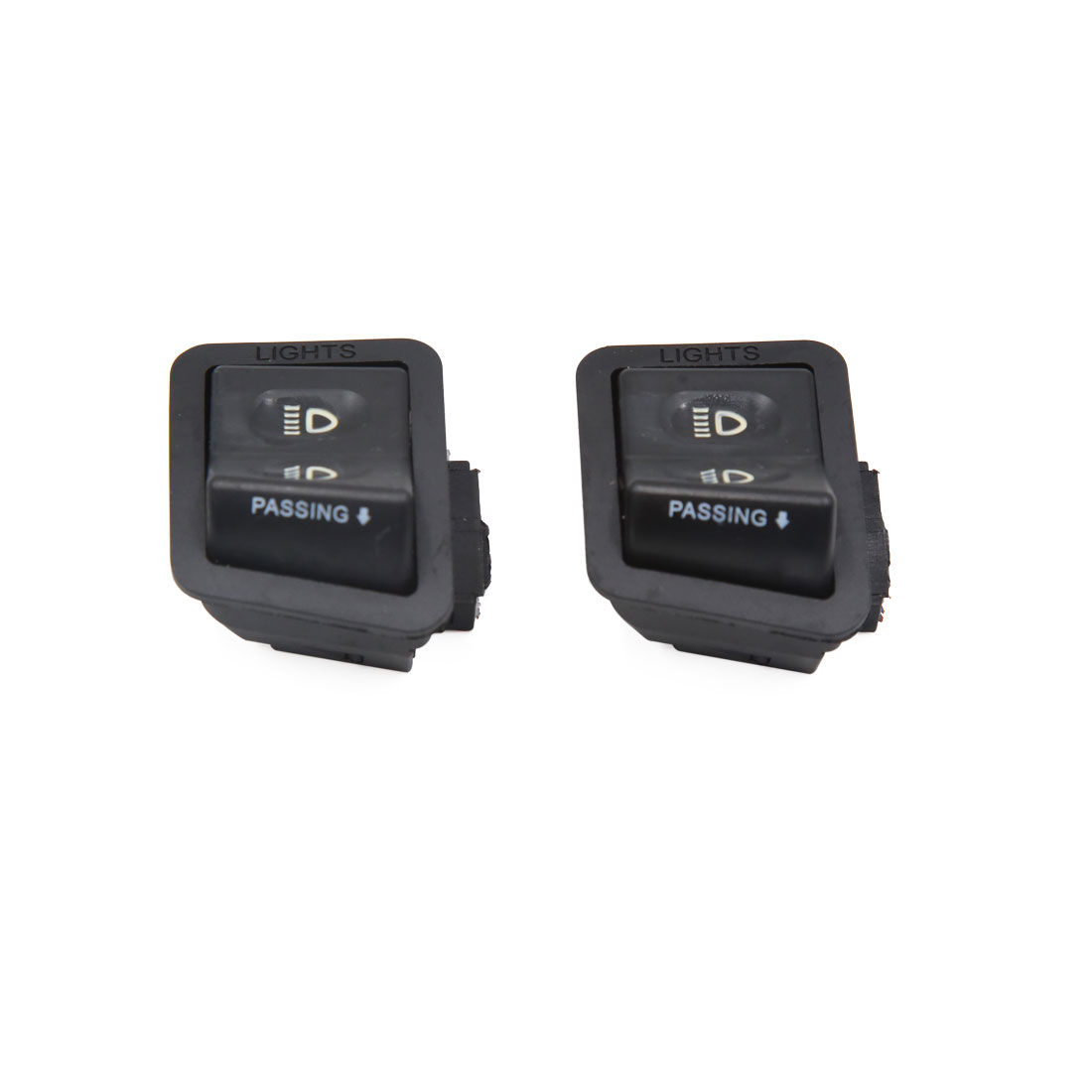 2Pcs 4 Terminal Motorcycle High Low Beam 2 Position Headlight Switch ...