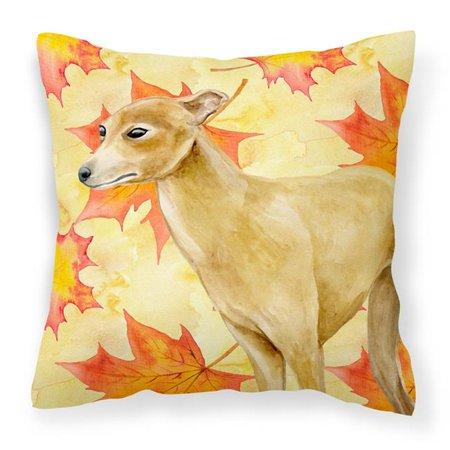 Carolines Treasures BB9959PW1818 Italian Greyhound Fall Fabric Decorative Pillow - image 1 of 1