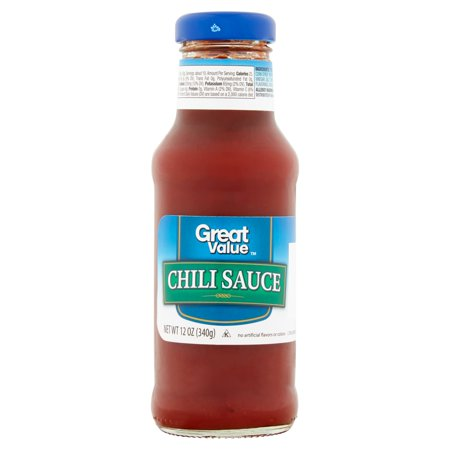 (4 Pack) Great Value Chili Sauce, 12 fl oz