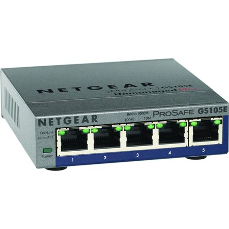 Netgear  NETGEAR 5 Port Gigabit Smart Switch Netgear  NETGEAR 5 Port Gigabit Smart Switch-