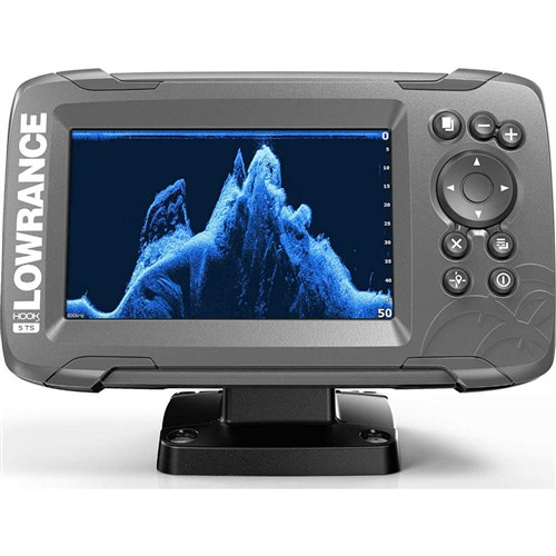 Lowrance 000-14285-001 Hook2-5 5inch TripleShot TM Transducer Fishfinder/Chartplotter w/ Built-In US Inland Charts