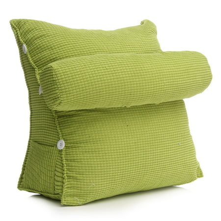 Green Adjustable Back Wedge Cushion Pillow Sofa Bed Office Chair Rest Waist Neck Support Best