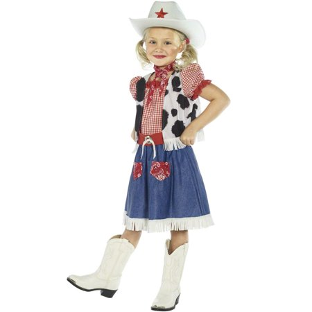 Cowgirl Sweetie Child Costume - Cowgirl Halloween Costume Makeup