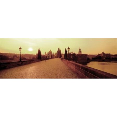 Charles Bridge  Prague  Czech Republic Poster Print by  - 36 x 12 - image 1 de 1