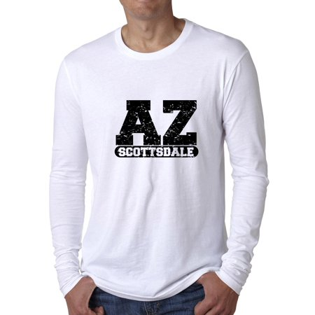 Scottsdale, Arizona AZ Classic City State Sign Men's Long Sleeve T-Shirt - Party City Scottsdale Az