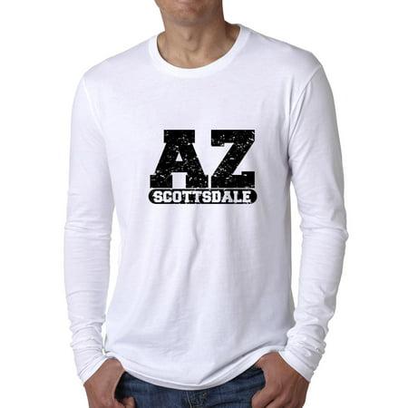 Scottsdale, Arizona AZ Classic City State Sign Men's Long Sleeve T-Shirt (Party City Scottsdale Arizona)