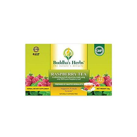 - Buddha's Herbs Natural 100% Pure Raspberry Leaf Herbal Tea, 22-count Tea Bags (2 Pack)