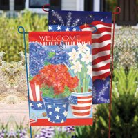 Garden Flag Stand, 2 assorted colors, Patriotic