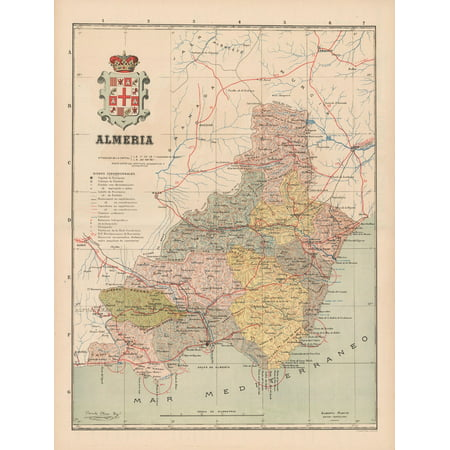 Map Of Spain Almeria.Old Spain Map Almeria Martin 1911 23 X 30 36