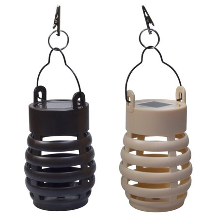 Moonrays 91832MC Solar Powered Woven Umbrella Clip Lights, 8pk ()