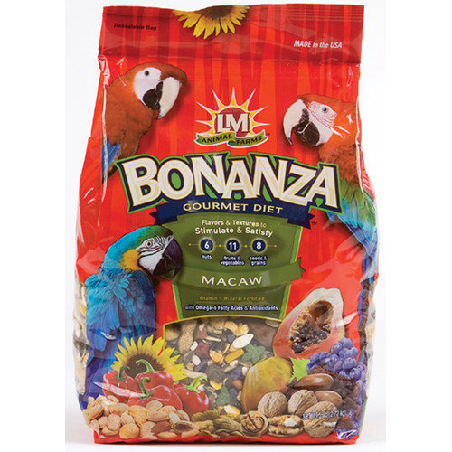 LM Animal Farms Bonanza Gourmet Diet Macaw Bird Food, 6 lb