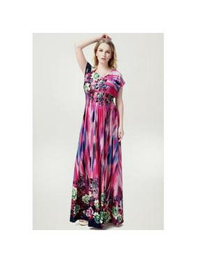 d309d46c514 Product Image Women Floral Printed Maxi Style Plus Size Gown Dress Purple.  Unomatch