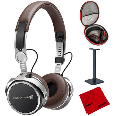 BeyerDynamic Aventho Wireless Bluetooth On-Ear Headphones Brown (717851) with Full Size Headphone Case, Headphone Stand & Microfiber Cleaning Cloth (Beyerdynamic Headphones Bluetooth)