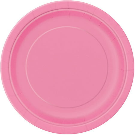 Paper Plates, 9 in, Hot Pink, 16ct