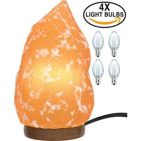 Himalayan Salt Lamp 3x Free Bulbs Natural Shape Crystal
