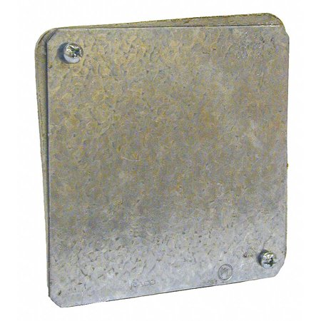 RACO 762 Electrical Box Cover,Galvaznized - Square Steel Electrical Box Cover