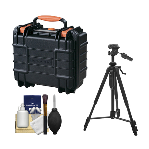 Vanguard Supreme 27F Waterproof and Airtight Hard Case with Foam with Tripod   Cleaning Kit