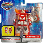 Digimon Transforming Digi-Fusion Loader Shoutmon Action Figure [X3]