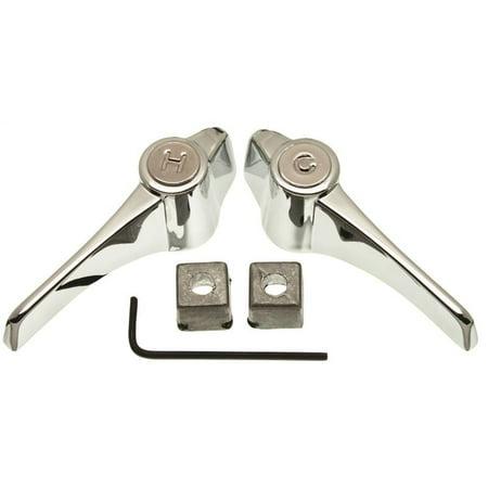 Danco Chrome Universal Metal Lever Handles Pair #80833