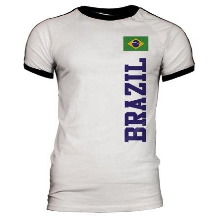 World Cup Brazil Mens Soccer Jersey T-Shirt Brazil Soccer World Cup