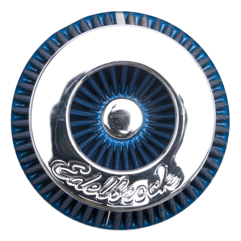 EDELBROCK 43613 Air Filter - Blue, Chrome - image 1 of 2