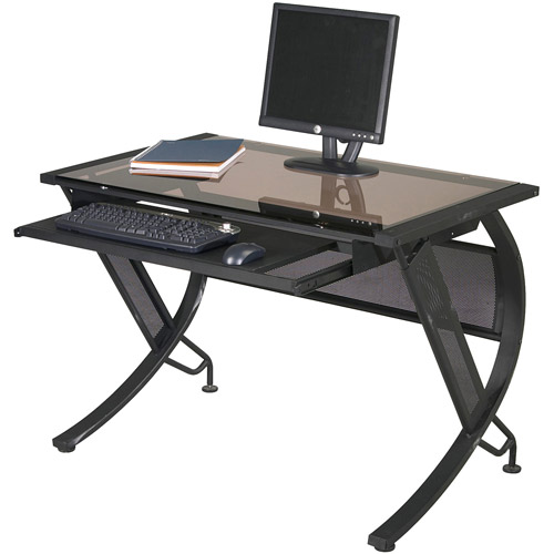 Office Star Designs Horizon Computer Desk, Black Textured