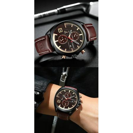CURREN 8324 montre de sport de quartz d'homme de marque de mode décontracté mâle multi-fonction montre-bracelet étanche - image 7 of 7
