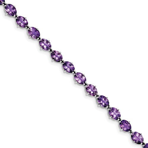 Sterling Silver Amethyst Bracelet. Gem Wt- 14.5ct by Jewelrypot