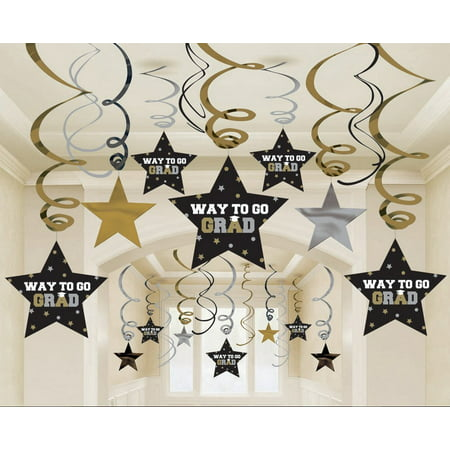 grad mega value pack swirl decoration set | party favor (Cute Graduation Decorations)