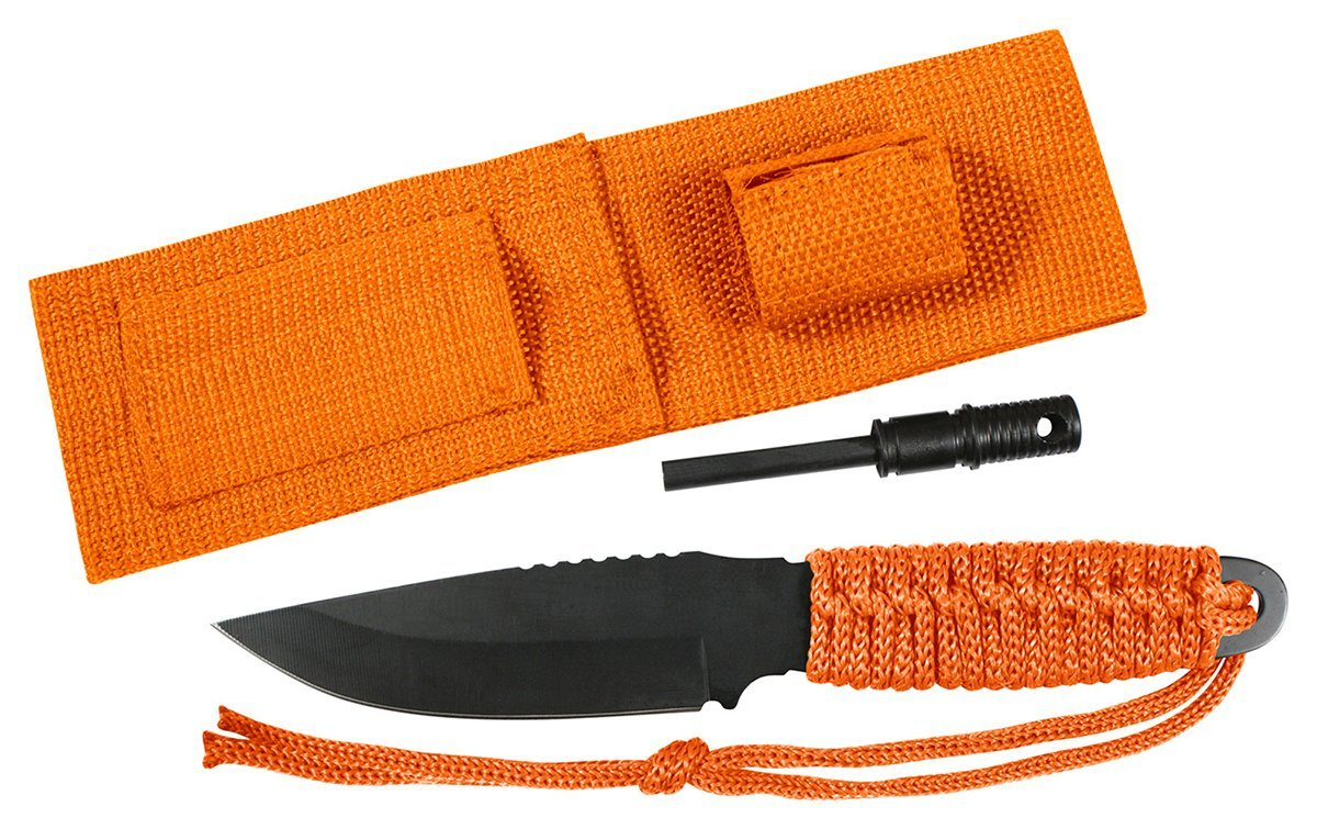 Rothco Paracord Camping Survival Knife With Fire Starter and Sheath by Rothco